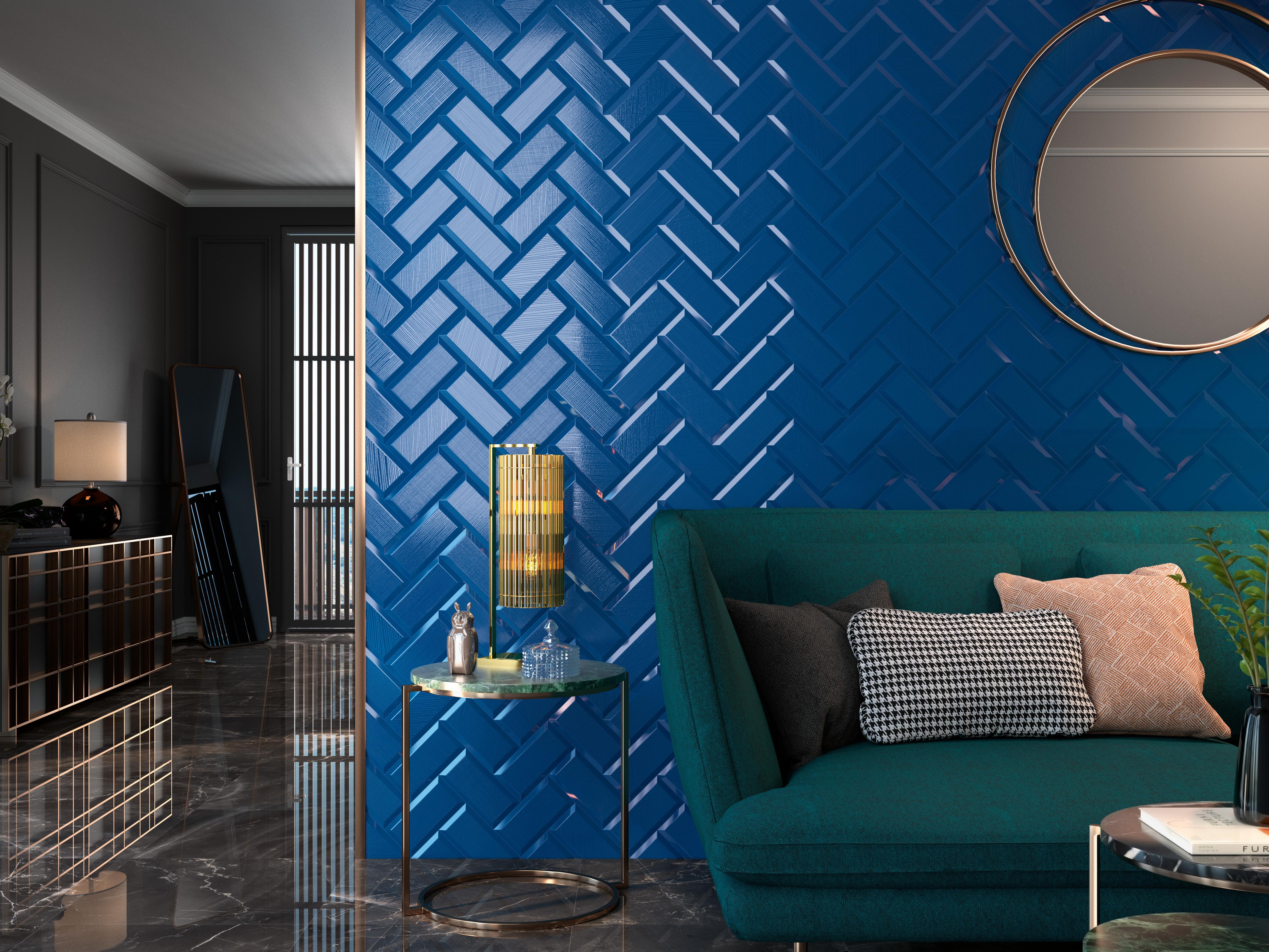 Boulevard-new-navy-accent-wall-miami-kitchen-bath-decor ...