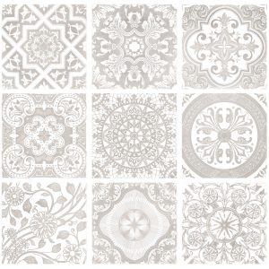 White and Grey decor tile